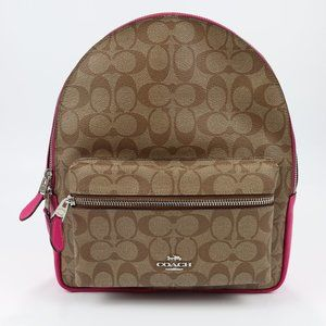 MEDIUM CHARLIE BACKPACK IN SIGNATURE CANVAS (COACH